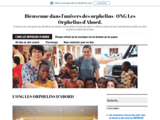 Bienvenue dans l'univers des orphelins- ONG Les Orphelins d'Abord.