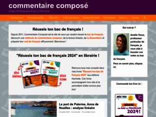 Détails : commentaire composé et oral de français