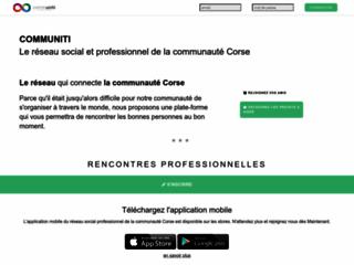 Communiti : réseau social et professionnel Corse et Diaspora  incubateur d'opportunités