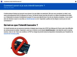 Détails : Interdiction bancaire