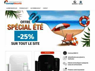 Concept Sécurité boutique d'alarme sans fil en ligne