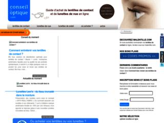 Détails : Conseil Optique : lunettes et lentilles de contact