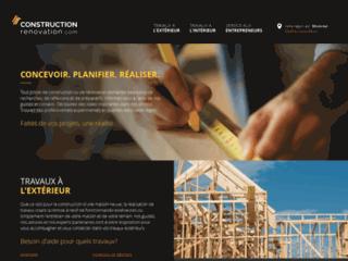 ConstructionRenovation.com - trouver un entrepreneur