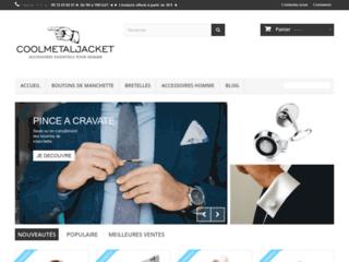 Commercialisation des accessoires pour habillement sur Coolmetaljacket
