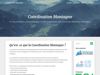 Coordination pour les activités de montagne