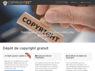 Détails : Dépôt de copyright pour site web