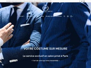Service de confection des costumes sur-mesure à Paris