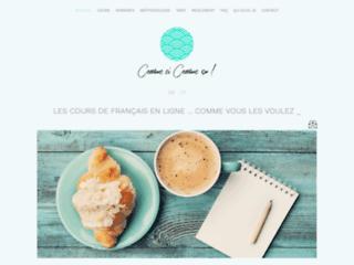 Cours de français écrit et parlé, en ligne