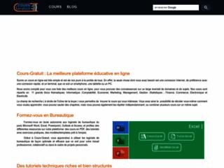 Cours-gratuit.com : Une gigantesque Bibliothèque en ligne