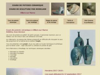 Détails : Stages et cours de poterie, céramique, sculpture à Villiers 94