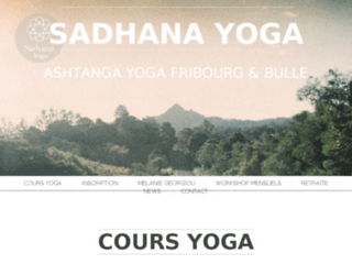 Classes Sadhana Yoga – Suisse