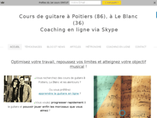 Cours de guitare à Poitiers (86), Le Blanc (36) et les alentours