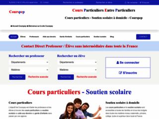 Détails : Cours particuliers entre particuliers - Courspep.fr