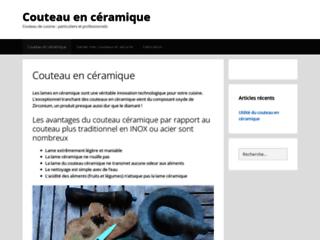 Détails : Couteau en ceramique