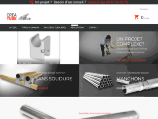Creatube : vente de raccords tubulaires et tubes alu