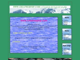 Détails : Creation de Logiciel programmé en php pour sites interactif