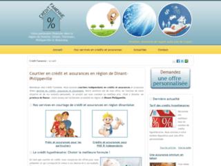 Détails : Crédit Famenne, courtier indépendant en prêts et assurances en région de Philippeville