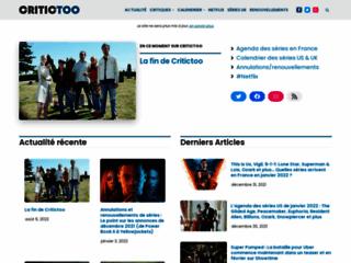 Détails : Critictoo Séries