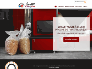 La société CUENOT ENERGIES à Levier spécialiste du chauffage