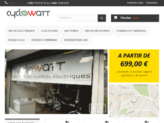 Détails : Cyclowatt.com, votre référence pour vos achats de vélos