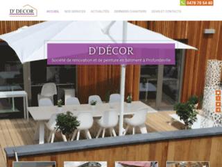 D'Décor: société de rénovation et de peinture en bâtiment à Profondeville