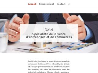 Détails : DAICI : vente d'entreprises et de fonds de commerce
