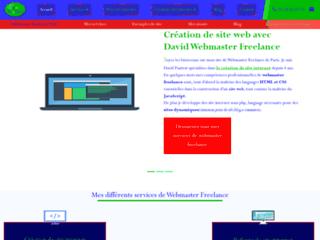 Webmaster Freelance de Paris. Spécialiste en création de site internet.