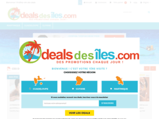 Détails : Deals des îles, achats groupés dans les dom-tom