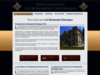 La loi Monuments Historiques, le dispositif fiscal