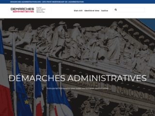Portail d'information pour toutes les démarches administratives