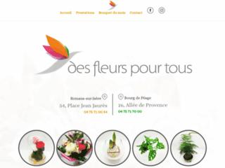 Détails : Boutique de bouquets de fleurs en ligne : Des Fleurs Pour Tous