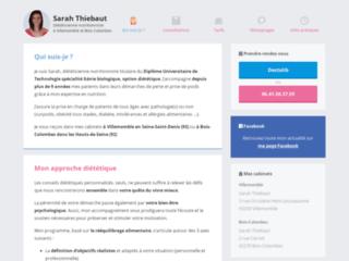 Détails : Sarah Thiebaut, diététicienne nutritionniste