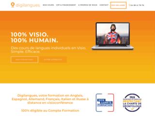 Digilangues: plateforme d'apprentissage de langue