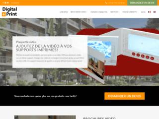 Digital Plus Print - Fabricant de brochures vidéo et Web Flyer