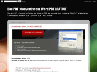 Doc PDF Convertisseur Word PDF