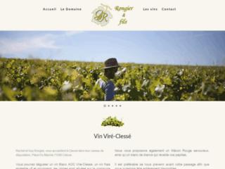 Détails : Domaine Guy Rongier : Vin Viré-Clessé, Mâcon rouge, grands vins de Bourgogne