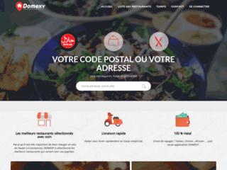 Domexy.com est une plateforme Lyonnaise spécialisée dans la livraison à domicile de plats cuisinés. produits halal