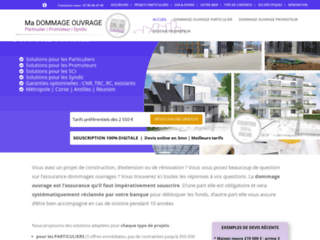 Assurance dommage ouvrage particulier maison individuelle