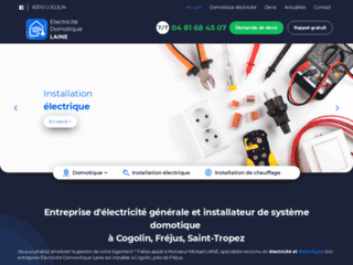 Entreprise d'électricité générale et installateur de système domotique à Cogolin