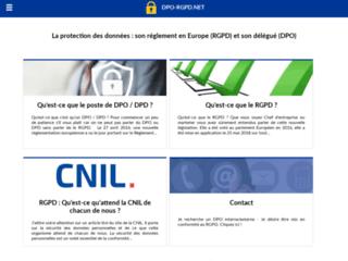 Site d'information portant sur la protection des données, le RGPD et le poste de DPO