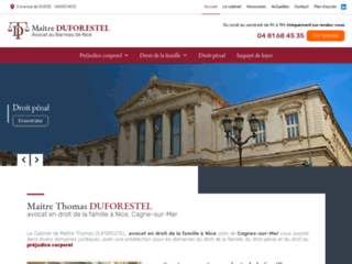 Maitre Thomas DUFORESTEL, avocat à Nice