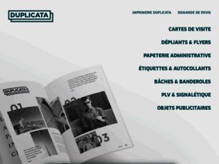Duplicata, imprimeur de caractère à Paris et Mulhouse