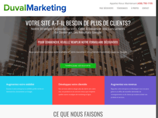 Agence de référencement web Duval Marketing
