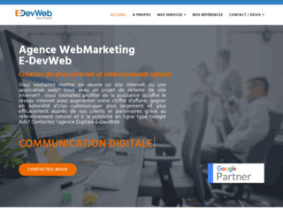 Détails : E-DevWeb, création et référencement de site internet