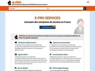 Détails : Annuaire de service E-pro