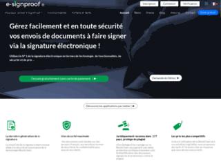 E-signproof : solution de gestion de signature électronique sécurisée