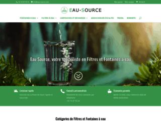 Détails : Eau Source, solutions de filtration et dynamisation de l'eau du robinet
