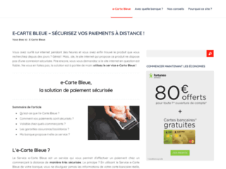 Détails : E-Carte Bleue | Portail d'information