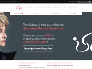 Détails : Site officiel de l'école de coiffure I.S.E.C à Paris