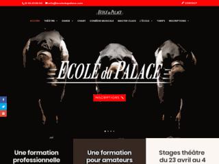 Ecole du Palace : Cours de théâtre pour amateurs et professionnels sur Paris